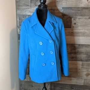Chadwick's wool pea coat in Teal 12